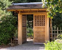 Entrance gate to bonsai garden