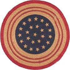 placemats for round table decor color ideas for bright patriotic placemat round braided candle mat liberty