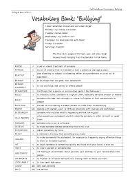 Bullying Vocabulary