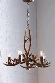 2 antler 5 light pendant chandeliers