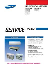 How To Service An Air Conditioner Samsung Mh080fxca4a Service Manual Air Conditioning Power Inverter