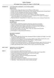 Record Resume Samples Velvet Jobs