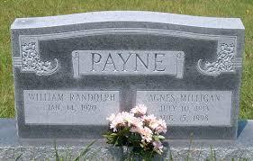 William Randolph Payne and Agnes Milligan Payne Gravestone ...