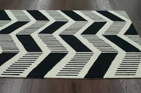photo 1 of 5 black and white chevron area rug photo gallery 1 black and white chevron rug