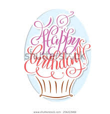 Postcards For Birthday Postcards Birthday Happy Birthday Hand Lettering Stock