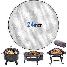 8 Mo Finance Fire Pit Mat Round Under Grill Mats For Outdoor Grill Abunda