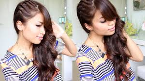 Hair Style Curling twisted side swept hairstyle feat nume lustrum curling wand youtube 8959 by wearticles.com