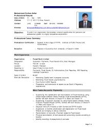 Page 1 / 3 Muhammad Farhan Zafar Professional Rsum Date of Birth: 01 -  Dec ...