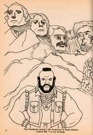 mr t and mount rushmore coloring page miscellaneous