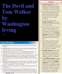 homework online for the lazy high schooler the devil and tom walker by washington irving