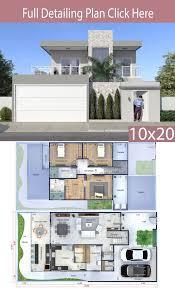 Facades De Maison Design Home Design Plan 10x20 Meters Plan Architecture Maison