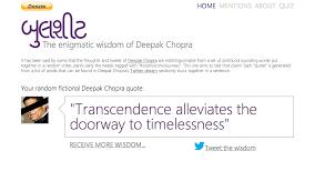 Here's A Deepak Chopra Quote Generator Album On Imgur Interesting Deepak Chopra Quote Generator