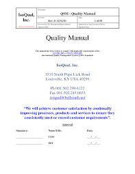 Quality Manual Template Best Photos Of Quality Manual Template Employee Code Of Conduct 1