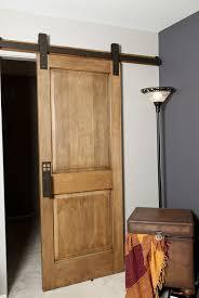 Custom Made Interior Barn Door Hardware: Flat Track Installation