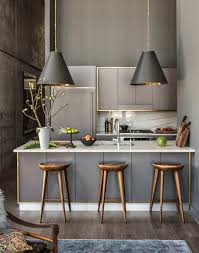 interior design ideas kitchen of decorating tips bar stool wooden scandinavian design bar counter marble grey