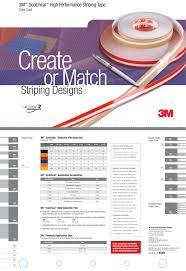 3m Striping Tape Chart 3m Scotchcal High Performance Striping Tape Color Card