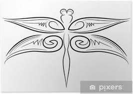 Plakát Vážka Tribal Tetování