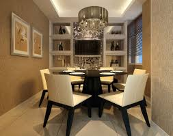 luxury dining furniture. luxury dining room design with modern pendant light above round tables and white leather chairs also furniture l