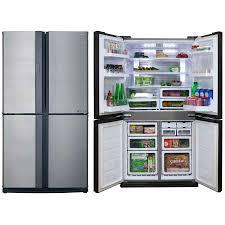 sharp fridge freezer. sharp-sjxe624fsl-624-litre-refrigerator sharp fridge freezer f