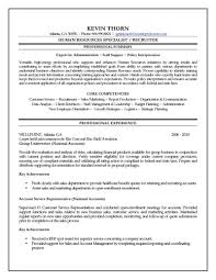 Hr Resume Objective 17 Hr Resume Sample Examples Monster Samples