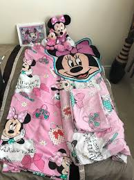 minnie mouse bedroom set quilt curtains rug picture