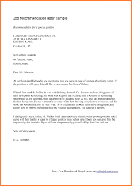 Recommendation Letter For Employment Sample Employee Reference Letter Template Uk With Sample Pdf Plus
