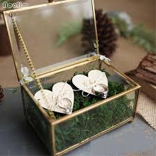 noolim unique wedding favors hexagonal geometric ring box flower jewelry box ring bearer pillow for wedding