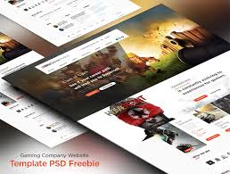 website templates download free designs gaming company website template psd freebie download download psd
