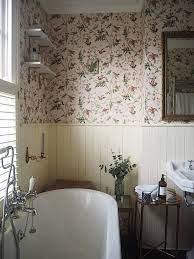 Mini Bathroom Makeover: Using Wallpaper ...