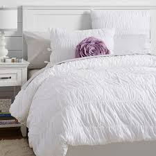 ruched duvet cover twin white
