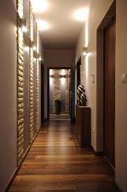 Interior, Wooden Cabinet With Displays Idea Feat Luxurious Wall Sconces  Also Modern Trend Grey Hallway