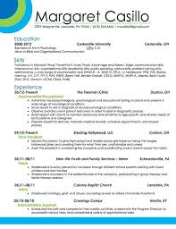 Modern Resume Formats For Vicep Residents My Resume Design That Portrays A Fun And Creative