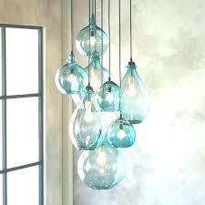 sea glass lighting modern star pendant light blue full image for turquoise find th green glass pendant lights sea