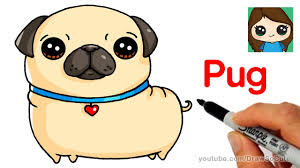 cute pug drawing. Brilliant Drawing How To Draw A Pug Easy To Cute Drawing YouTube