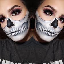 half skull makeupbymeritt