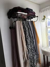 Best 25+ Hanging scarves ideas on Pinterest   Closet organization storage,  Organizing belts and Command hook curtain rod