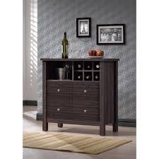 Cherry Bar Cabinet Wine Storage Cabinet Bar Rack Small Bar Cabinet 16 Bottle Capacity