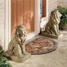 lions at guard sculpture pair large