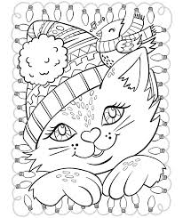 coloring pages cat seasons coloring page seasons coloring page cat and cardinal 4 seasons coloring pages