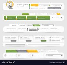 Infographic Website Template Website Template Infographic Design Menu Vector Image