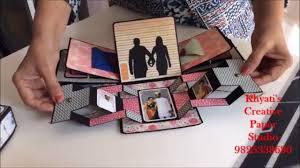 cutest anniversary gift idea romantic explosion box anniversary gift for husband boyfrien gift idea