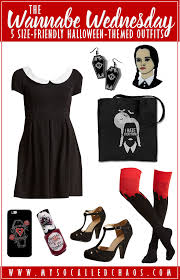 plus size wednesday addams costume 5 size friendly halloween inspired outfits my so called chaos