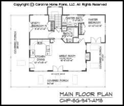 Small Country Guest Cottage House Plan SG   AMS Sq Ft    SG  Main Floor Plan