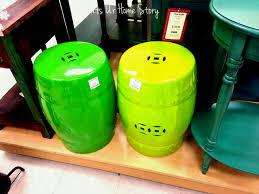 asian ceramic stool green beautiful fl garden decorative glazed