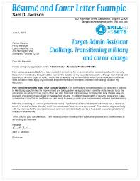 military cover letter great example transitioning military resume and cover
