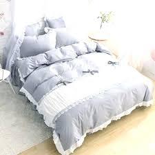 ruched bedding princess duvet cover set grey white king