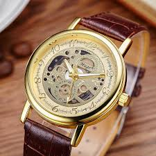 gold watch men silver rose gold leather band designer watches fashion quartz wrisch black brown color watches for mens