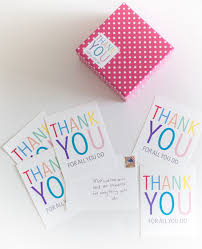 Printable Thank You Note Stickers • A Subtle Revelry