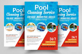 Cleaning Brochure Pool Cleaning Service Flyer Template