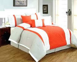 orange bedspread comforter and blue king size set red light bright full